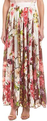 Rococo Sand Hemant and Nandita Floral Silk Maxi Skirt