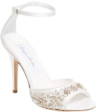 Monique Lhuillier Odette Ankle-Wrap Sandal