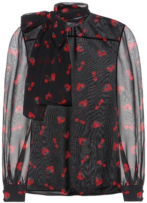 Miu Miu Silk georgette blouse