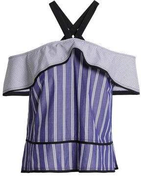 Proenza Schouler Layered Striped Cotton Top