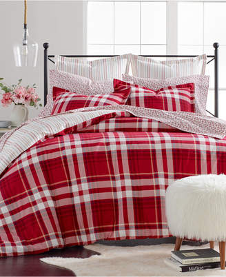 Martha Stewart Collection Winter Plaid Cotton Flannel King Duvet Cover