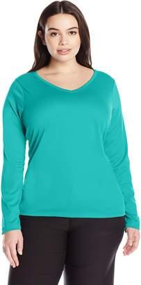Kanu Surf Women's Plus-Size Solid Upf 50+ Long Sleeve Swim Shirt Rashguard