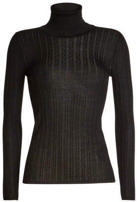 M Missoni Turtleneck Pullover with Virgin Wool