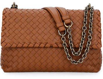 Bottega VenetaBottega Veneta Intrecciato Double Chain Shoulder Bag