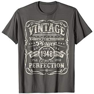 Vintage Blues Harmonica Player Made In 1948 T-Shirt