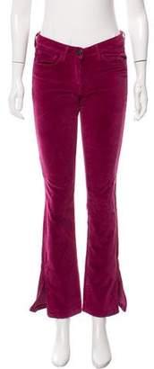 3x1 Velvet Mid-Rise Pants