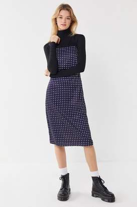 Urban Outfitters Paula Polka Dot Cross-Back Slip Dress