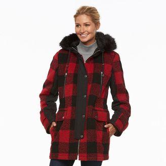 Women's Apt. 9® Hooded Wool Blend Anorak Jacket $200 thestylecure.com