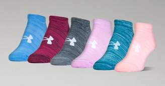Under Armour Women's UA Twist No Show Socks 6-Pack