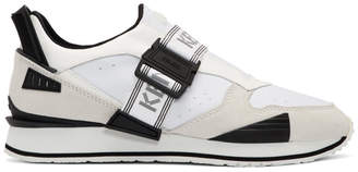 Kenzo White New K-Run Sneakers