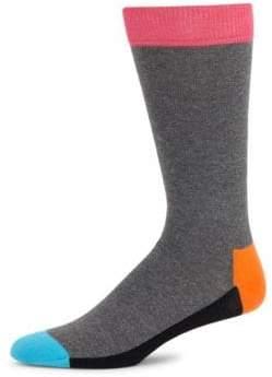 Happy Socks Colorblock Cotton Crew Socks