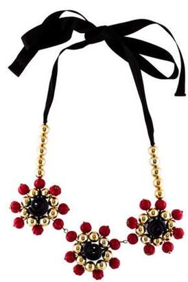 Marni Flower Collar Necklace Gold Flower Collar Necklace