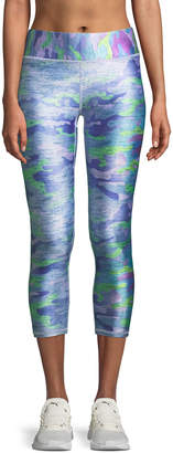 Terez Tall Band Printed Capri Leggings