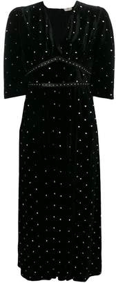 Fendi embellished flared maxi dress