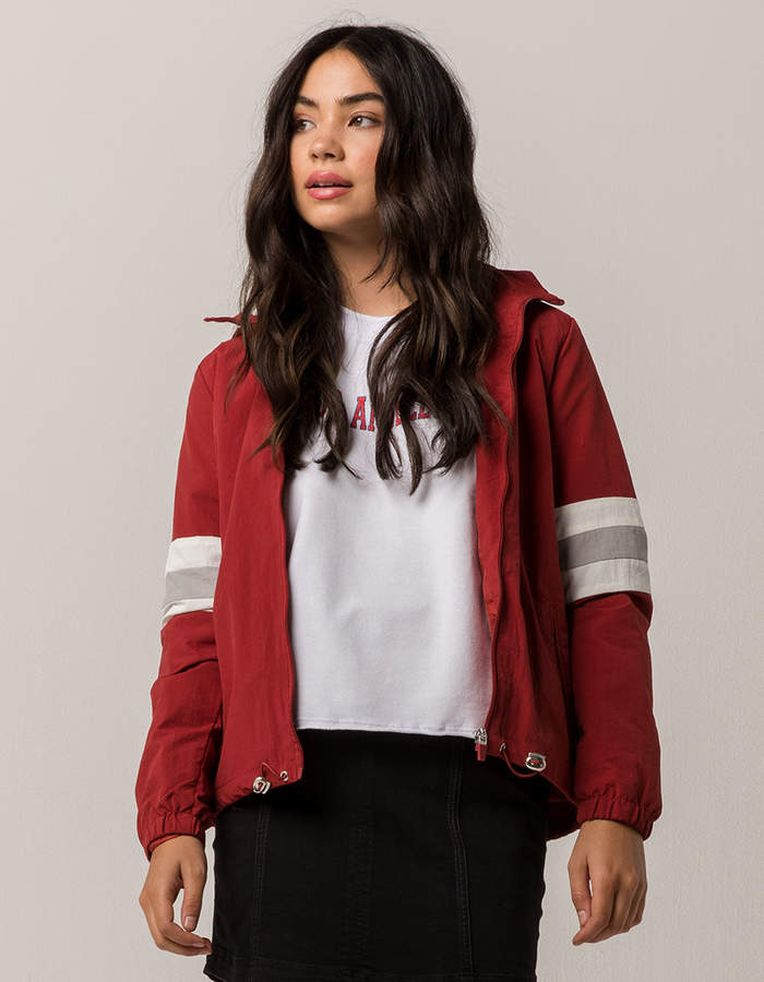 Full Tilt Stripe Rose Bud Fade Womens Coach Jacket