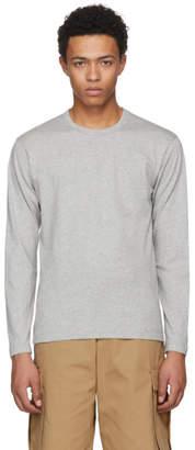 Comme des Garcons Grey Long Sleeve Basic T-Shirt