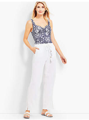 Talbots Crinkle-Cotton Beach Pant