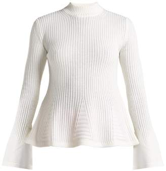 Mary Katrantzou Casso High Neck Wool Sweater - Womens - White