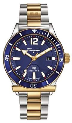 Salvatore Ferragamo Men's FF3280015 1898 Sport Analog Display Swiss Quartz Two Tone Watch