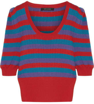 Marc Jacobs Striped Cotton Sweater - Red