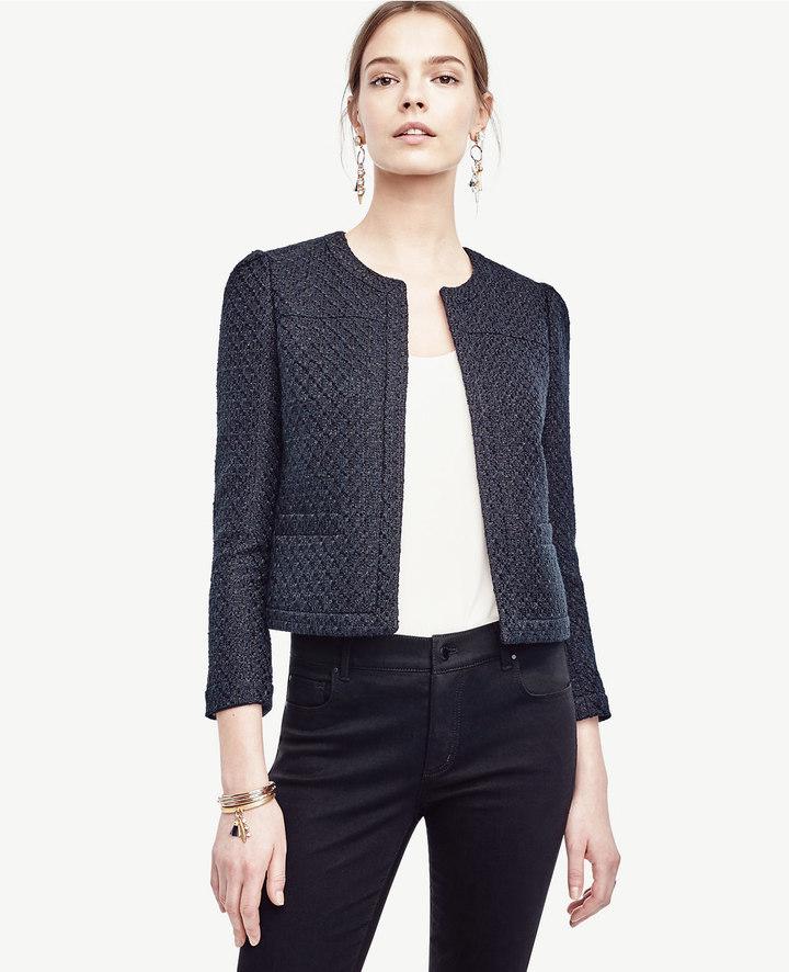 Ann TaylorPetite Tweed Open Jacket