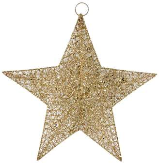 The Christmas Home Gold Star Hanging Christmas Decoration