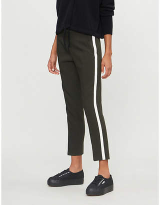 E.m. ME AND Side-striped high-rise woven trousers