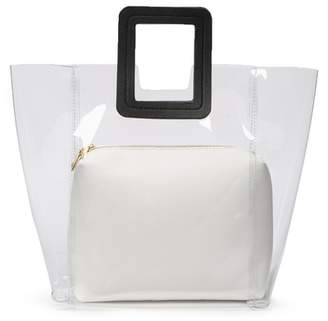 Urban Expressions Clear Square Handle Tote