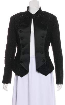 Armani Collezioni Tweed Open Front Evening Jacket