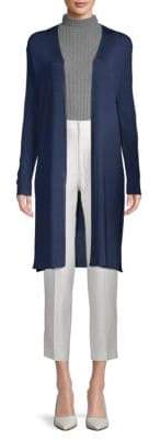 Lafayette 148 New York Long Ribbed Duster Cardigan