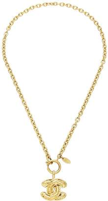 Chanel Gold Quilted 'CC' Necklace Medium