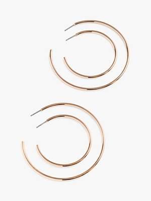 J.Crew Thin Hoop Earrings, Set of 2