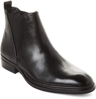 Karl Lagerfeld Paris Black Saffiano Leather Chelsea Boots