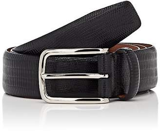 Barneys New York MEN'S LIZARD-EMBOSSED LEATHER BELT