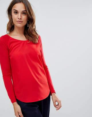 French Connection Classic Crepe raglan long sleeved t-shirt
