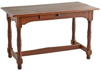Rejuvenation Mahogany Writing Desk w/ Turned Legs & Drawer