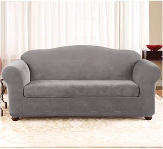 Sure Fit Stretch Pique 2-Piece Sofa Slipcover