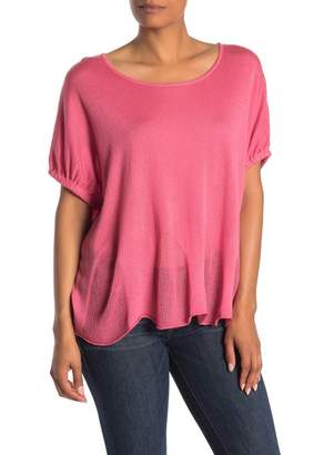 InCashmere In Cashmere Cocoon Silk Blend Top
