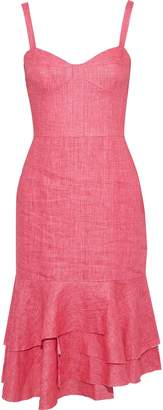 Milly Kendal Fluted Linen Dress