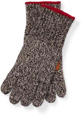 Ralph Lauren Deerskin-Palm Knit Gloves