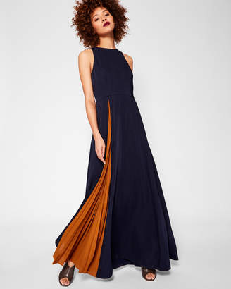 Ted Baker MADIZON Contrast pleat maxi dress