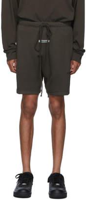 Essentials Khaki Logo Sweat Shorts
