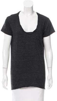 Pam & Gela Short Sleeve Scoop Neck Top