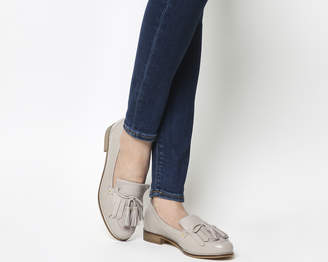 c9550c9c4b23 Grey Tassel Suede Loafers Womens - ShopStyle UK