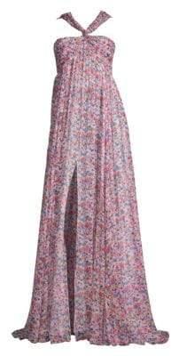 Prabal Gurung Floral Chiffon Gown