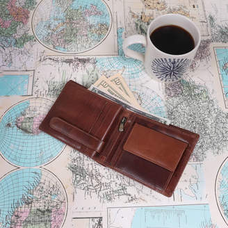 The Leather Store Riley Mens Leather Wallet