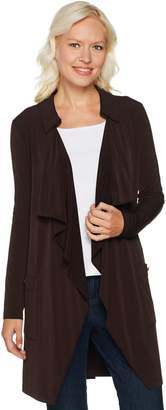 DAY Birger et Mikkelsen Every by Susan Graver Liquid Knit Cascade Front Long Cardigan