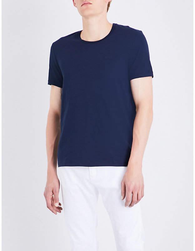 Boss Black Casual Logo-detail cotton-jersey T-shirt