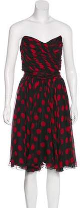 Dolce & Gabbana Polka Dot A-Line Dress