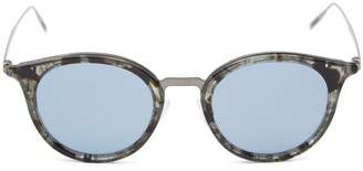 Tomas Maier Round Acetate Tortoiseshell Sunglasses